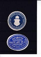 ABVERKAUF 2 Stück wunderschöne Siegelmarken vermutlich Kroatien ANSEHEN