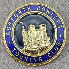 Vintage Gosforth Bowlers Touring Club Enamel Pin Badge by Miller of Birmingham.