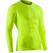 Tervel Comfortline Mens Underwear Thermal Top Long Sleeve Gym Shirt Yellow Fluo