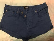 Blue Bardot Denim Shorts, Size 12