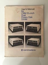 COMMODORE manuale utente per CBM 5 1/4 - pollici doppia unità disco floppy manuale Pet