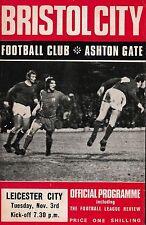 Football Programme>BRISTOL CITY v LEICESTER CITY Nov 1970 FLC