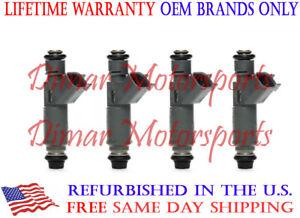 Lifetime Warranty - 2.4L 2.2L Flow Matched OEM Fuel Injector Set of 4- 12582704