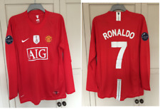 Manchester United 2008 WORLD CHAMPIONS Football Shirt Man Utd RONALDO LARGE 41""