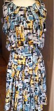 NWT! $1,990 Oscar de la Renta Runway Print Paint Plaid Silk Dress Sz 4