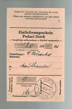 1942 Germany Mauthausen Concentration Camp money order Receipt Wenzel Vohanko