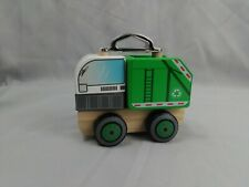 J'adore Paris Nature Wood Toys Garbage Truck. Ages 1+.. Sensory Wooden Toy.