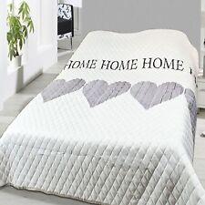 Bettüberwurf Tagesdecke Sofaüberwurf gesteppt und wattiert 240x220cm Home