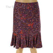 CHAPS by Ralph Lauren LARGE Multi-Color SKIRT PAISLEY & FLORAL Print FLOUNCE HEM