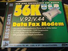 Best Data 56K USB External Modem With Cables