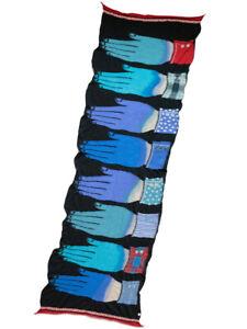 Kapital Capital Milling 100% Wool Blue Man Hands Muffler Scarf 3 Colors Gift NEW