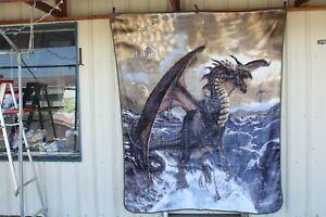 DRAGON ROGUE DRAGONS MYTHICAL FANTASY SKY QUEEN BLANKET BEDSPREAD