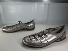 ECCO womens gray metallic Vibration II toggle loafers 41 10.5 M EUC MINT
