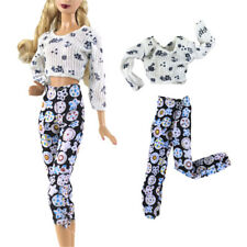 2Pcs/Set Handmade Fashion Doll Clothes Suit for Barbie Doll Party Daily TQY