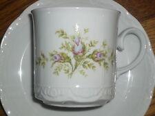 1 Kaffeebecher / Kaffeetasse + Untertasse  Mitterteich  Rosa / Pink   Rosen