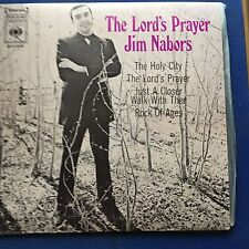 EP Jim Nabors The Lord's Prayer Rock of Ages  + 2 CBS Label  VG+