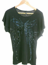 Size 12 navy blue top with sequins by KIRRILY JOHNSTON