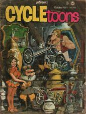 1971 October Cycletoons - Vintage Motorcycle Comic Book / Magazine
