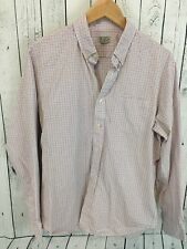 J Crew Red Shite Blue Plaid Long Sleeve Button Front Shirt Size Large B1