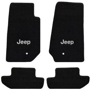 Jeep Wrangler 4 Pc All Weather Carpet Floor Mats JEEP Logo fits 2007-2010 2 Door