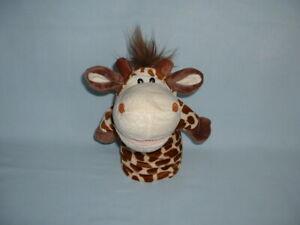 GIRAFFE Hand Glove Puppet Cuddly Soft Plush Toy (ANIMALS/SAFARI/ZOO/OPEN MOUTH)
