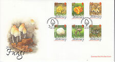 Alderney 2004 Fungi Set SGA210-5 On Unaddressed FDC (Special H/S) Cat £9.75