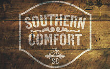 Southern Comfort Stencil Art Painting Airbrush Bodywork Chopping Board Mylar A3