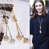 Luxury Cubic Zircon Necklace Sweater Chain Tassel Long Necklaces Women Accessory