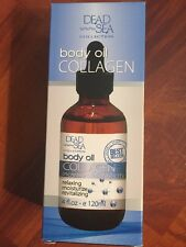Dead Sea Collection Skin Body Oil Collagen Increase Elasticity Moisturize 4 Oz.