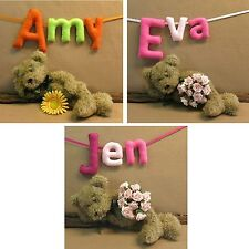 Personalized Name Banners Baby Fabric 3 Letters Nursery Banner Wall Bunting