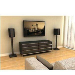 Speaker Stands Home Music Studio Adjustable Metal Speaker Stands 2 Pair Black