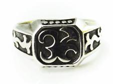 Sterling Silver John Hardy Dyak Dot Scroll Signet Ring 13mm Size 11