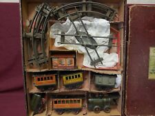 F.V. Complete Rail Road Outfit,0 Gauge, Very Early, Boxed