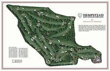 Hempstead Golf & Country Club A.W.Tillinghast 1921 Vintage Golf Course Map