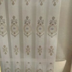 Gold and silver embroidered shower curtain Neiman Marcus