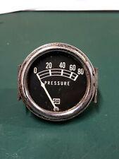 Vintage Stewart Warner Oil Pressure Gauge Sw Rat Rod