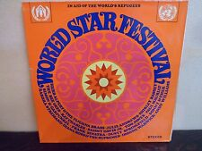 "LP 12"" WORLD STAR FESTIVAL - In Aid World's Refugees - 1969 - EX/MINT - UN"