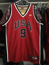 91f8272cf644ac Michael Jordan Usa Olympics Jersey Men XXL Nike NBA Sewn  9  23 Vtg Dream