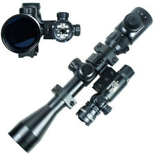3-9x40 Hunting Rifle Scope Dual illuminated Snipe Scope & Red Laser Sight