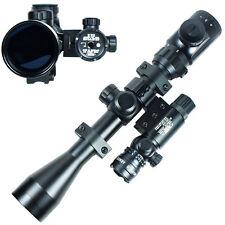 3-9x40 Hunting Rifle Scope Dual illuminated Snipe Scope & Red Laser Sight