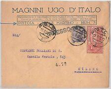 64029a - ITALIA  Regno - STORIA POSTALE:  BUSTA PUBBLICITARIA  Pistoia 1925