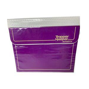 Vintage 80s Mead Trapper Keeper Folder 3 Ring Binder Portfolio Plain Purple