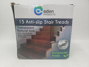 EDEN PRODUCTS 15 ANTI-SLIP STAIR TREADS TRANSPARENT NATURAL LOOK PLUS ROLLER