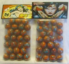 2 Bags Of Wonder Women Superhero  5 cent Promo Marbles