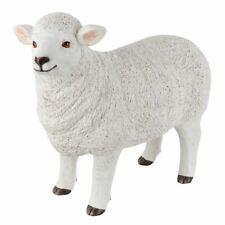 White Sheep Statue 75cm | Big Garden Decor Farmyard Animal Figurine