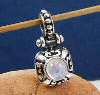 Solid 925 Sterling Silver Moonstone Gemstone Handmade Wedding Wear Gift Pendant