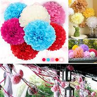 "10pcs 8"" 10"" 14"" Tissue Paper Pom Poms Flowers Balls Wedding Party Outdoor Decor"