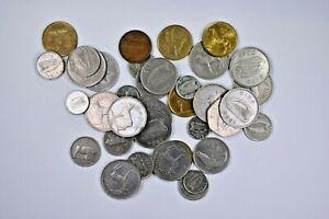 Lot of thirteen Ireland Pound Coins Irish & Lower denominations 99c NO RESERVE