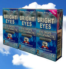 Ethos Eye Drops for Cataracts N-Acetyl-Carnosine Bright Eyes 3 Boxes 30ml