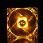 120mm PC Computer Clear Case Quad 4-LED Light 9-Blade CPU Cooling Fan 12cm 4Pin